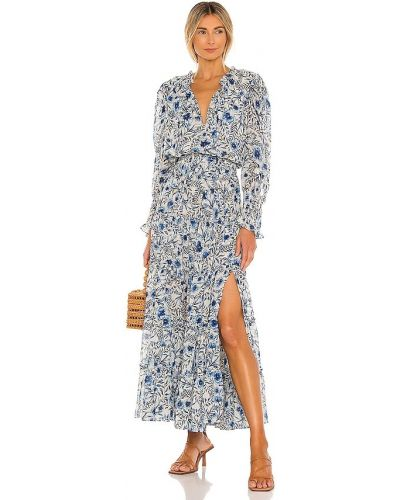 Шифоновое синее платье с подкладкой Misa Los Angeles