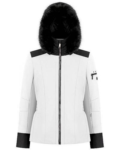 Белая куртка горнолыжная Poivre Blanc
