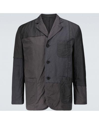 Льняной однобортный черный пиджак Comme Des Garã‡ons Homme