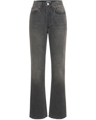 Czarne jeansy bootcut Re/done