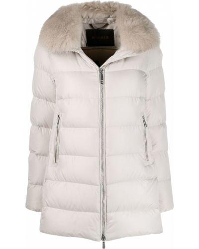 Белое пальто с воротником Moorer