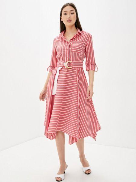 Платье прямое красный Vilatte