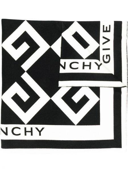 Szalik biały z nadrukiem Givenchy