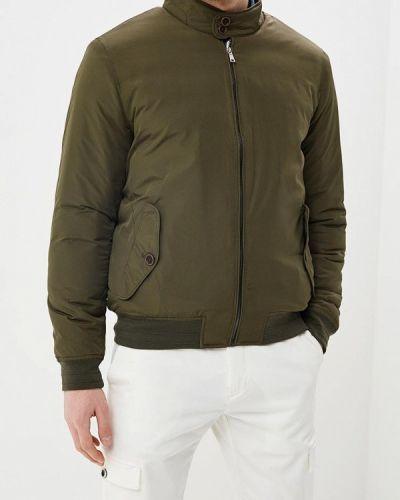 Утепленная куртка демисезонная зеленая Celio