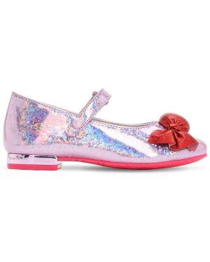 Фиолетовые с ремешком кожаные туфли Sophia Webster