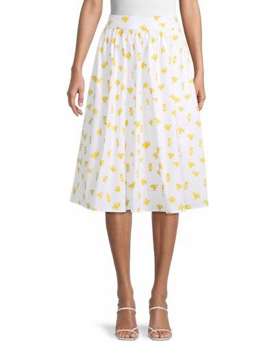 Klasyczna biała spódnica maxi bawełniana Carolina Herrera