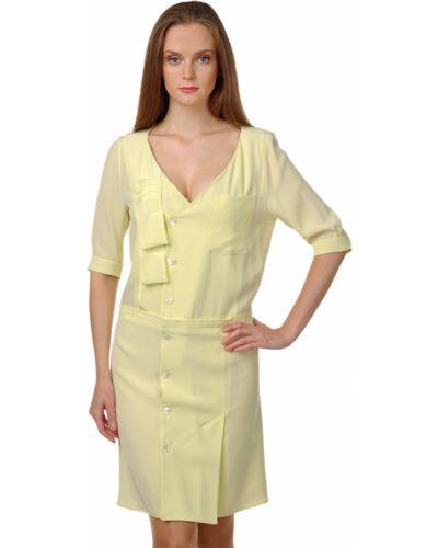 Шелковое платье - желтое Sonia Rykiel