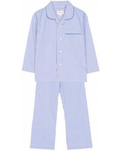 Пижама на пуговицах в полоску Derek Rose