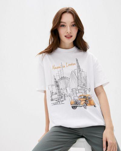 Белая футболка с короткими рукавами Naumi