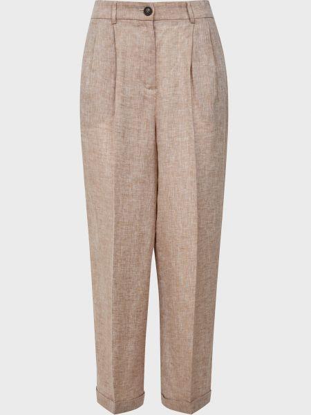 Бежевые брюки на молнии Cappellini