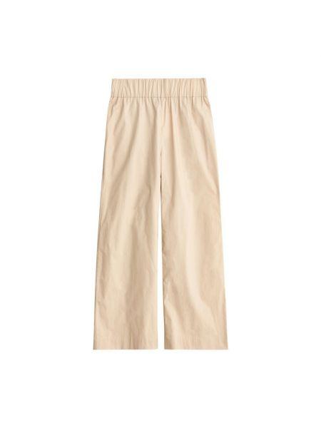 Beżowe spodnie sportowe By Malene Birger