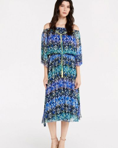 Синее прямое платье Patrizia Pepe