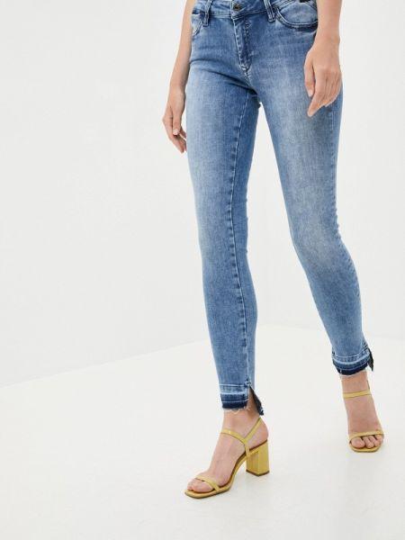 Синие весенние турецкие джинсы узкого кроя Mavi