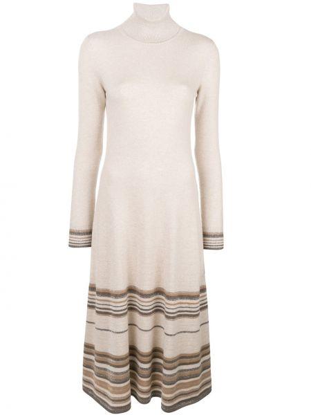 Кашемировое платье - бежевое Agnona