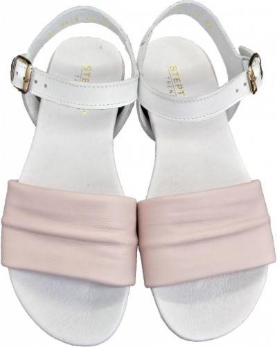 Кожаные босоножки - розовые Stepter
