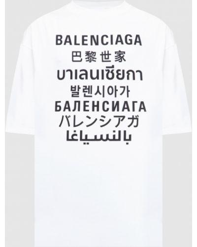 Белая футболка Balenciaga