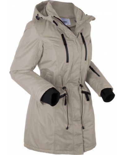 Расклешенная куртка с капюшоном мятная Bonprix