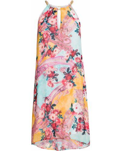 Платье шифоновое с открытыми плечами Bonprix