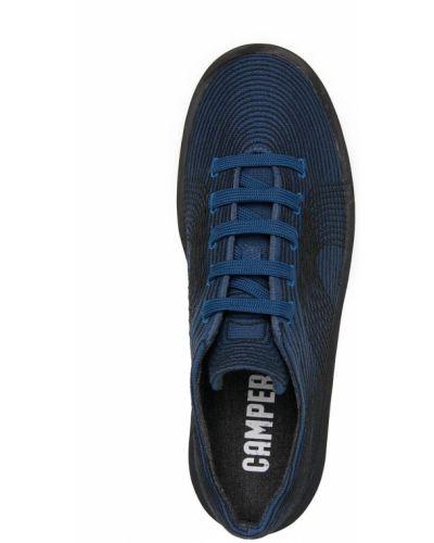 Хлопковые синие кеды на шнуровке Camper
