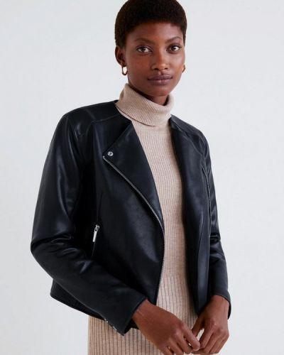 Кожаная куртка весенняя 2019 Mango
