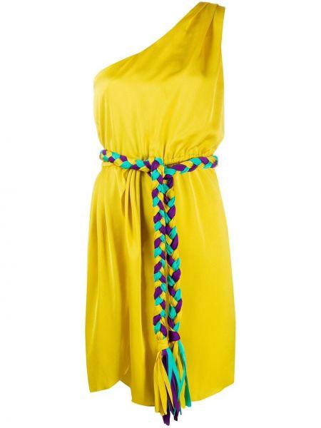 Платье с поясом на одно плечо через плечо Giada Benincasa