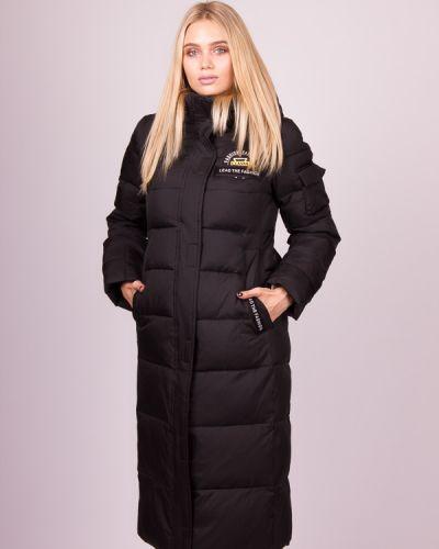 Длинное пальто - черное Clasna