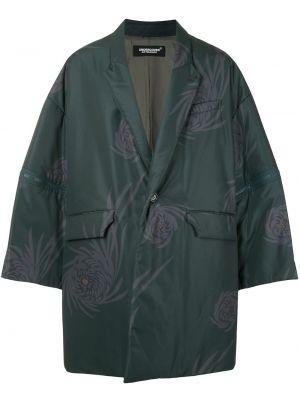 Zielony płaszcz krótki rękaw Undercover