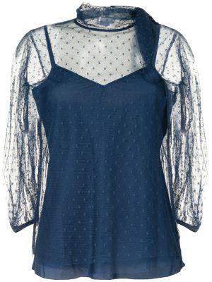 Niebieska bluzka tiulowa Redvalentino