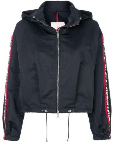 Куртка с капюшоном укороченная из полиэстера на молнии Moncler