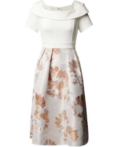 Biała sukienka bawełniana Apart Glamour