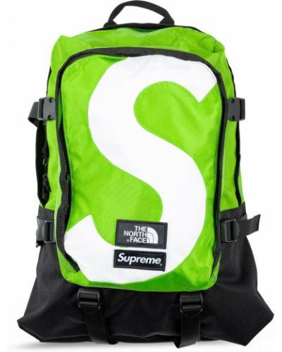 Zielony plecak klamry z nylonu Supreme