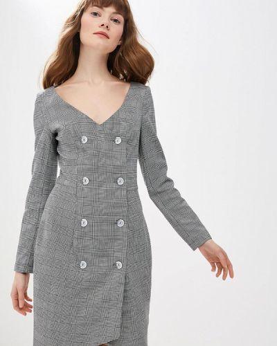 Платье серое платье-пиджак Mirasezar