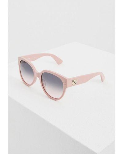 Розовые солнцезащитные очки Moschino