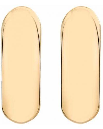 Золотистые серьги-гвоздики золотые Lizzie Mandler Fine Jewelry