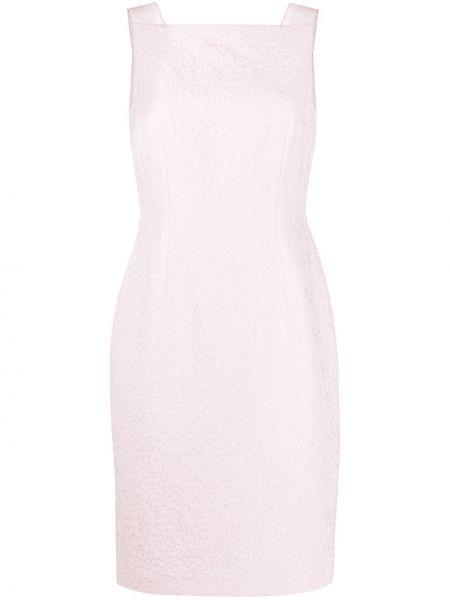 Платье миди с вышивкой со вставками Paule Ka