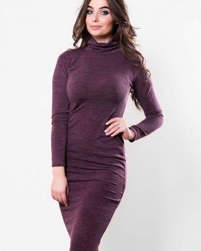 Платье осеннее фиолетовый Sfn