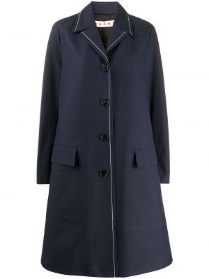 Длинное пальто - синее Marni