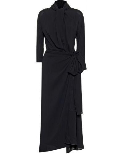 Платье миди из вискозы черное Prada