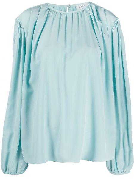 Шелковая блузка - синяя Lemaire