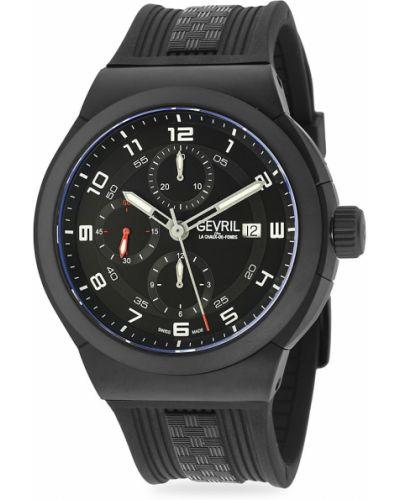 Czarny zegarek sportowy Gevril