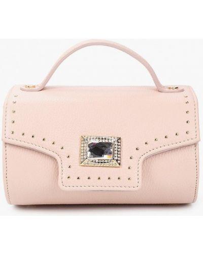 Розовая сумка с ручками из натуральной кожи Marina Creazioni