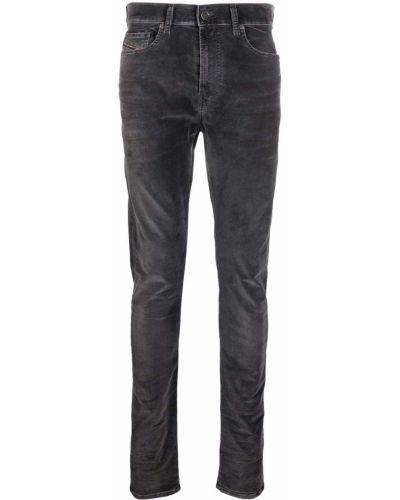Черные облегающие зауженные джинсы Diesel
