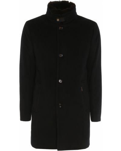 Czarny płaszcz Moorer