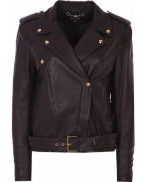 Кожаная куртка на молнии с карманами Gucci