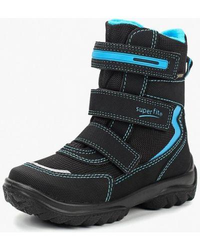 Черные ботинки текстильные Superfit
