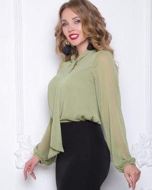 Блузка с длинным рукавом с бантом большой Diolche