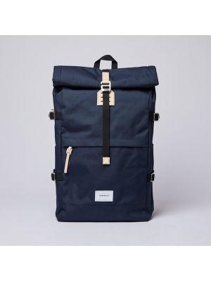 Рюкзак жёлтый темно-синий Sandqvist