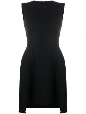 Шелковое черное платье мини без рукавов Alexander Mcqueen