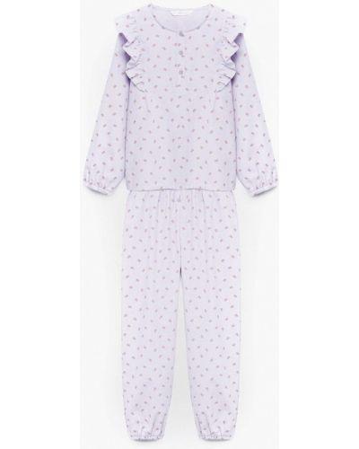 Пижамная фиолетовая пижама Mango Kids