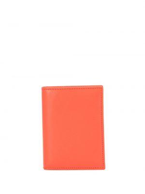 Оранжевый золотистый кожаный кошелек Comme Des Garçons Wallet